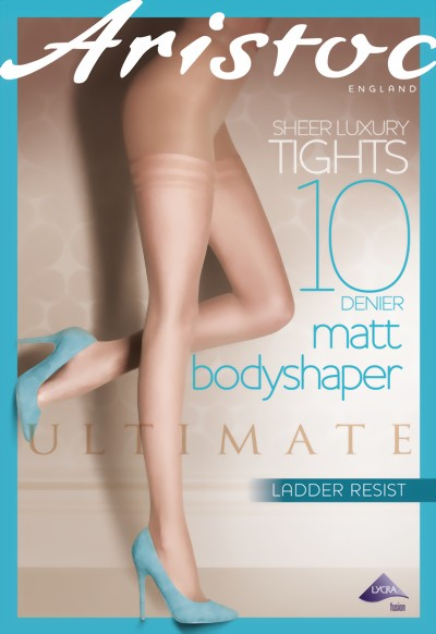 Aristoc - 10 denier Ultimate Matt Bodyshaper Tights, nude, size XL