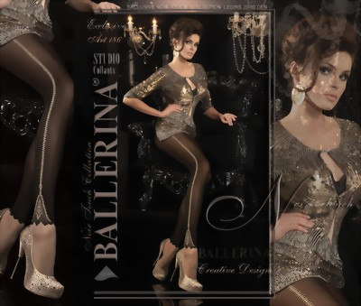 Ballerina - Beautiful mock leggings tights, 60 denier