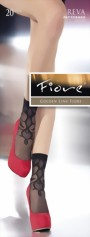 Fiore - Elegant patterned socks Reva 20 denier