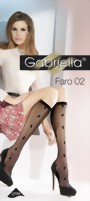 Gabriella - Suble floral pattern knee highs Faro 02