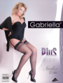 Gabriella - Elegant plus size stockings with subtle diamond pattern Anika, 20 DEN, white, size XL/XXL