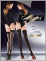 Gabriella - Opaque back seam stockings Cruze, smoky with black back seam, size XS/S