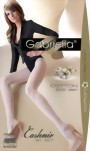 Gabriella - Elegant patterned cotton tights Cashmir, 200 den, black, size L