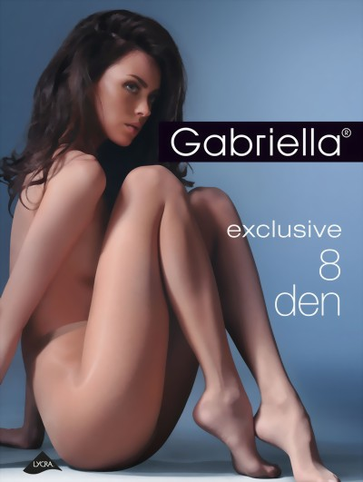 Gabriella - Ultra sheer tights Exclusive, 8 DEN, beige, size S