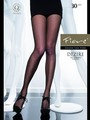 Tights with dot pattern Dezire 30 denier in cappuccino, size S