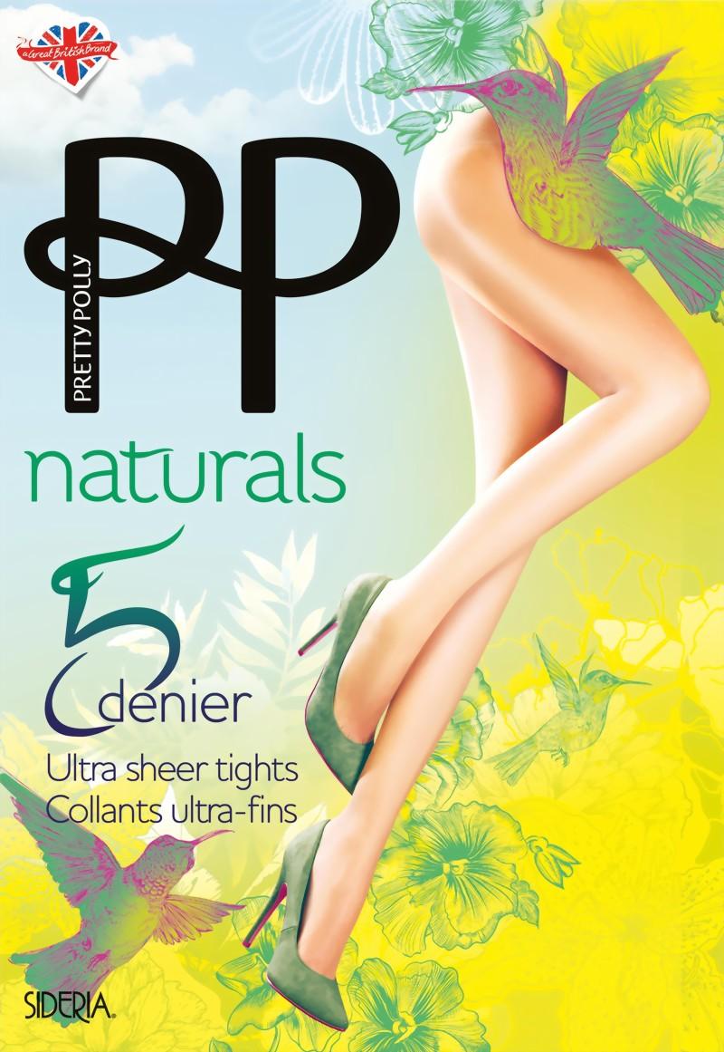 Pretty Polly Womens Naturals 5 Denier Sidera Tight