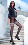 Trasparenze - Sensuous patterned polka dot tights Anfissa, black, size S